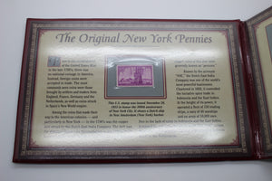 The Original New York Pennies - Postal Commemorative Coin & Stamp Album