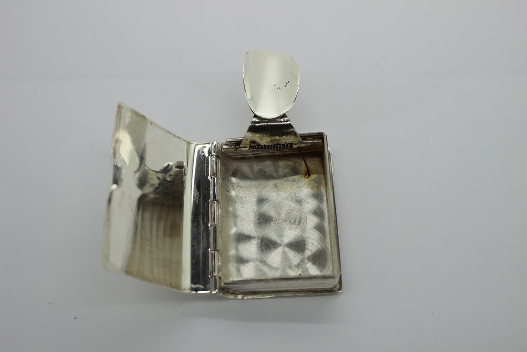 Sterling Silver (925) Book Locket - Opens & Closes - Mexico