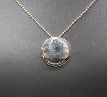 "Load image into Gallery viewer, Tiffany & Co Silver Necklace - Initial ""T"" Round 0.75"" Disc Pendant - 18"", 7g"