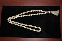 "Load image into Gallery viewer, Alfredo Villasana Sterling Silver 36"" Rope Chain Necklace with Tassel - 194 grams"