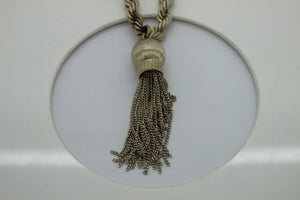 "Alfredo Villasana Sterling Silver 36"" Rope Chain Necklace with Tassel - 194 grams"