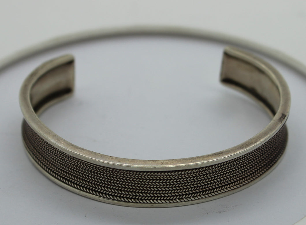 Sterling Silver (.925) Open Cuff Bracelet, 23 grams, 2.5