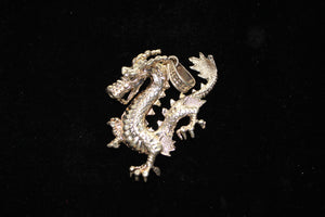 "Sterling Silver (925) Large Dragon Necklace Pendant, 31.4 grams, ""1 Of A Kind"""