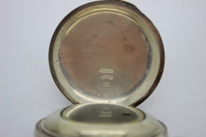 Antique Elgin GM Wheeler Pocket Watch - Open Face w/ Key Wind, Model 1, Size 18s