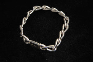 "Sterling Silver (.925) Chain Link Bracelet - 7.5"" Made in Mexico - 39.4 grams"