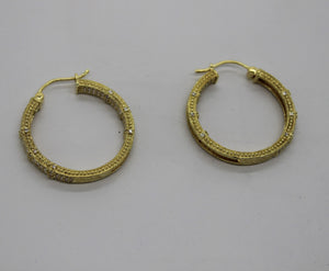 JUDITH RIPKA Inside-Out Gold Plated Sterling Silver 925 Hoop Earrings