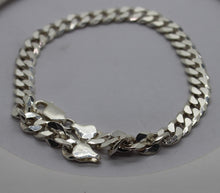 "Load image into Gallery viewer, 925 Sterling Silver Curb Link Bracelet/Anklet, 9"", 17.4 grams"