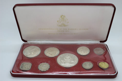 1973 Franklin Mint Commonwealth of the Bahama Islands Proof Set in Box w/COA