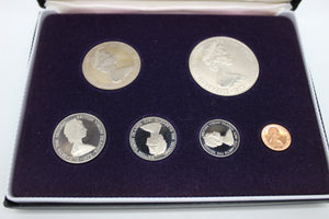 1973 First Coinage Of The British Virgin Islands Proof Set - Franklin Mint