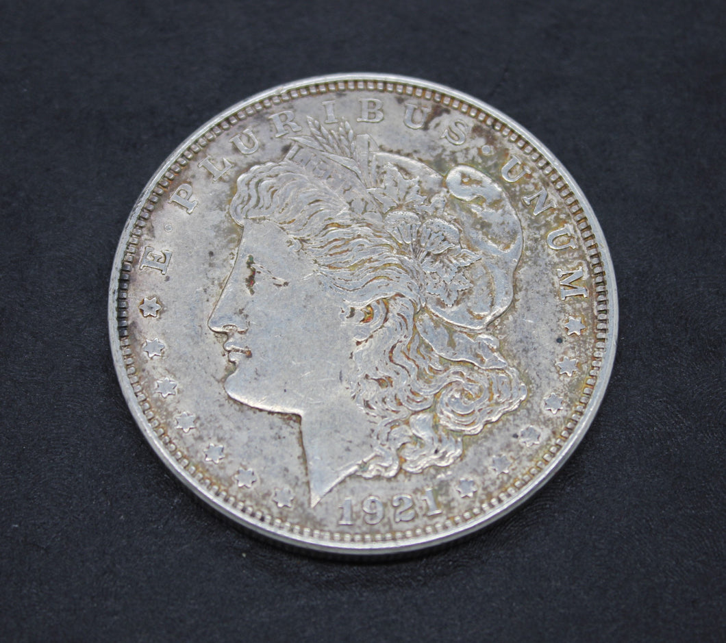 1921 D Morgan Dollar - Silver $1 Very Good