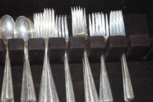 "Load image into Gallery viewer, TOWLE ""Rambler Rose"" Sterling Silver Antique Silverware - 74 pieces - 3 KG"