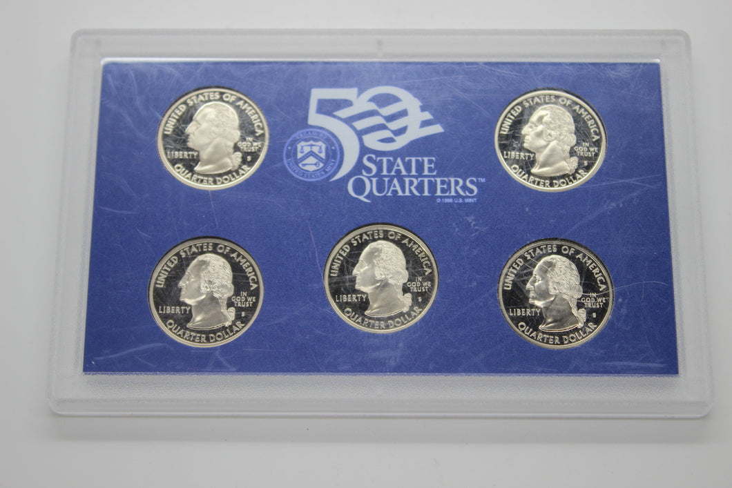 1999-S United States Mint 50 State Quarters Proof Set - Uncirculated