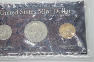 Brilliant Uncirculated United States Mint Dollar Coin Collection