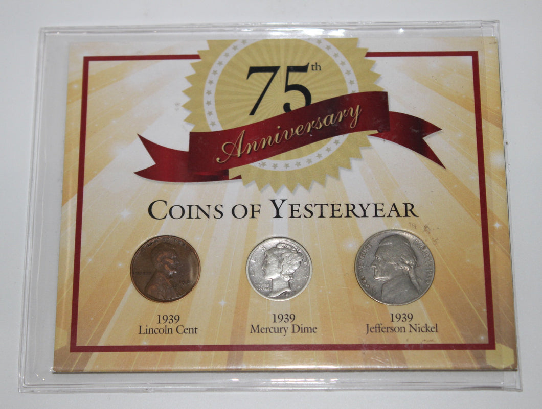 COINS OF YESTERYEAR - 75th Anniversary 3 Coin Commemorative Set
