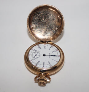 Vintage Waltham Pocket Watch, 1907 - Grade 161, Gold Tone, 0s, 15j - For Parts
