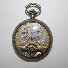 Load image into Gallery viewer, Vintage Hebdomas Style Windsor Exhibition Swiss Pocket Watch - 8 Day, Fancy