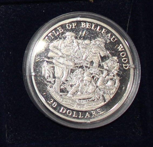 2003 Republic of Liberia 20 Dollars Commemorative Silver Coin - Belleau Wood