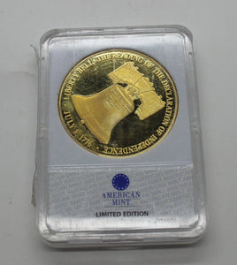 Liberty Bell 24K Plated Gold Coin - Symbols of Freedom Archival Collection