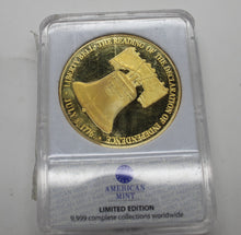 Load image into Gallery viewer, Liberty Bell 24K Plated Gold Coin - Symbols of Freedom Archival Collection