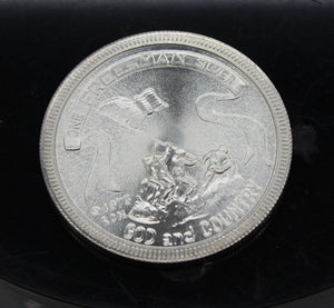 1973 One Free Man Silver Commemorative Coin - 1 oz .999 Silver - Vintage
