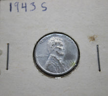 Load image into Gallery viewer, 1943-S 1C Lincoln Cent - Steel Penny - Wheat Cent