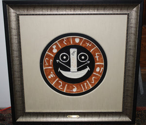 RARE Pablo Picasso Smiling Plate Art - Framed, Authenticated