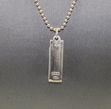 Load image into Gallery viewer, Authentic TIFFANY & Co. Silver 925 Plate 1837 Necklace - 35 inch chain