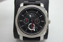 Load image into Gallery viewer, Fossil Machine Chronograph Black Silicone Mens Wrist Watch - FS4572