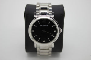 Bulova Stainless Steel Men's Wrist Watch - 96D130 - 3 Diamond