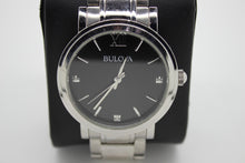 Load image into Gallery viewer, Bulova Stainless Steel Men's Wrist Watch - 96D130 - 3 Diamond
