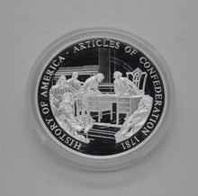 Load image into Gallery viewer, .999 .70 OZ SILVER COIN - 1781 HISTORY OF AMERICA - ARTICLES OF CONFEDERATION