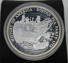 Load image into Gallery viewer, History of America - Boston Tea Party 1773 - .999 Silver Coin