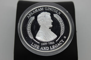 Abraham Lincoln Silver Coin - 1809-1865 Life And Legacy - Gettysburg Address