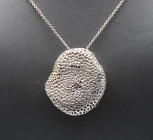 "Load image into Gallery viewer, Sterling Silver 925 Necklace w/ Rock Shaped Pendant - 30"", 31.8 grams"