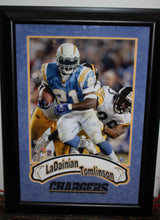 Load image into Gallery viewer, LaDainian Tomlinson San Diego Chargers Framed Poster Autographed - Authenticated