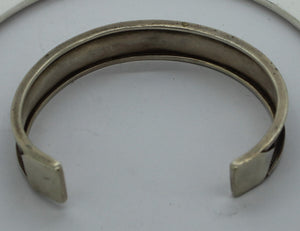 "Sterling Silver (.925) Open Cuff Bracelet, 23 grams, 2.5"" Diameter"