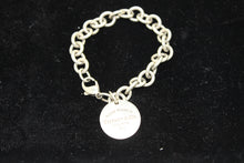 "Load image into Gallery viewer, Sterling Silver Return To Tiffany Rolo Chain Link Charm Bracelet - 7.5"", 36.8g"