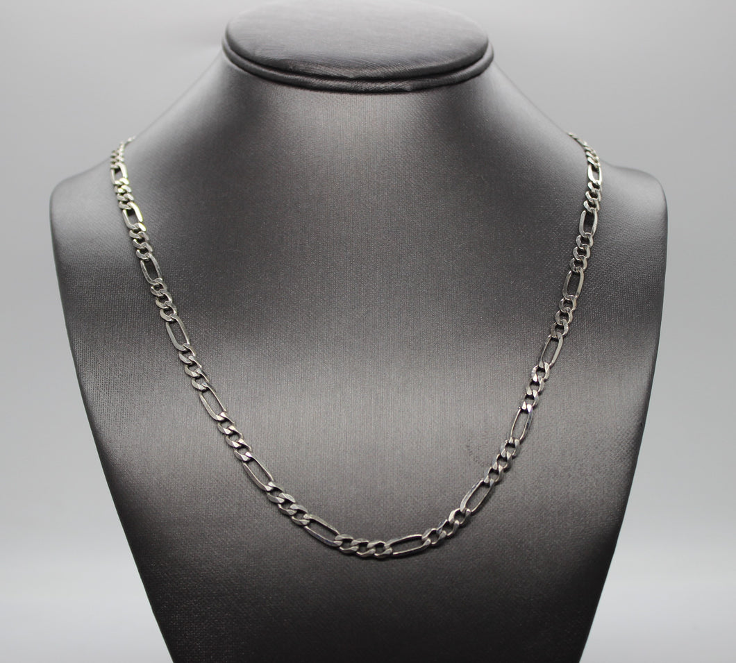 Figaro Chain Necklace, Sterling Silver 925 - 22