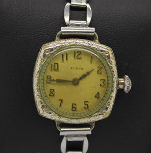Vintage 1914 Elgin Ladies Wrist Watch - 10/0s, 15j, Grade 404, Model 1