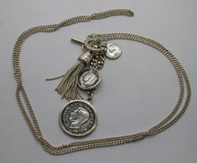 Load image into Gallery viewer, Custom Coin Necklace - Silver Plated Copper Chain - Georgius VI Coins