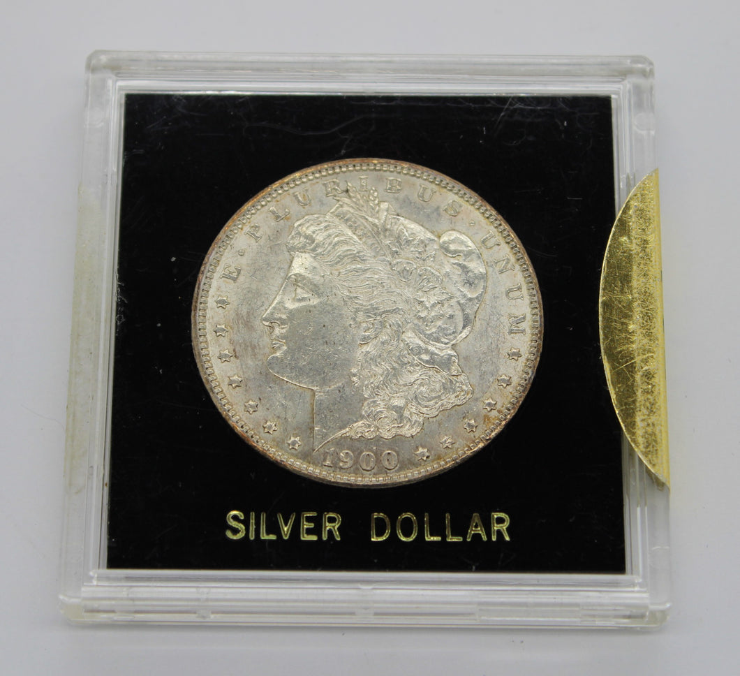 1900 $1 Morgan Silver Dollar - Extremely Fine XF - In Case