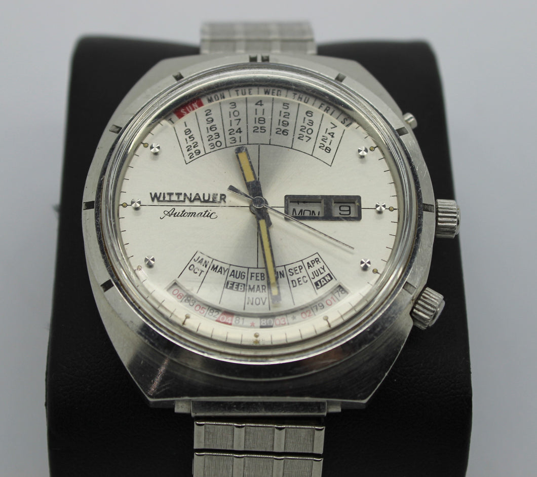 Vintage Wittnauer 2000 Automatic Men's Watch - Perpetual Calendar, Stretch Band