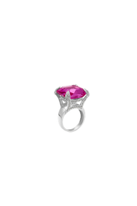 Pink Square Party Ring