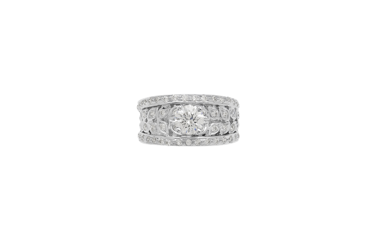 Diamonte Leaf Ring