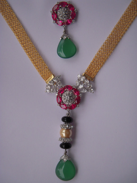 Multi Coloured Necklace Set