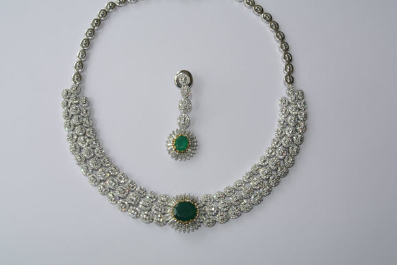 Changeable Green Onyx Necklace Set