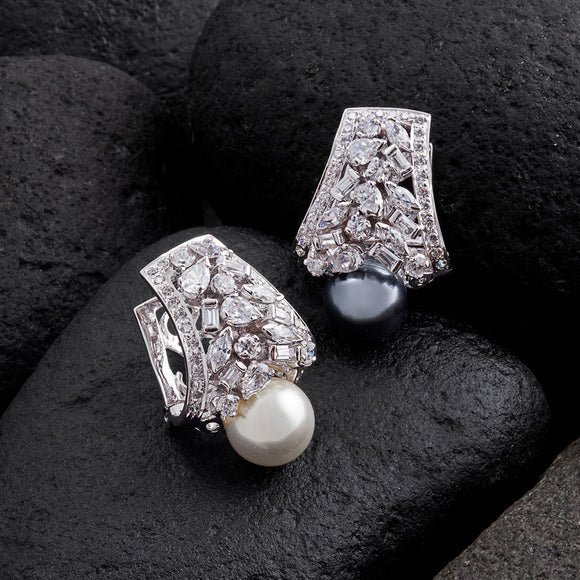 Balis with Changeable Pearls and American Diamonds