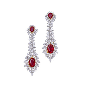 Beautiful Chandelier Earrings / Danglers with Cascading Marquise