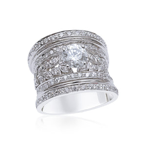 Beautiful Cocktail Ring Set with Diamond Simulants