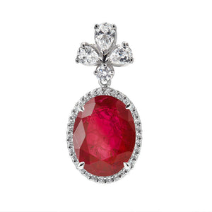 Premium Earrings with Exceptional Carved Rubies / Tops